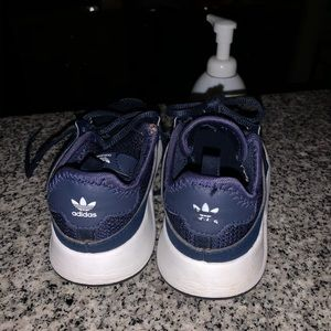 Adidas blue and white